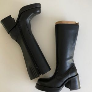 90s Steve Madden Chunky Tall Boots